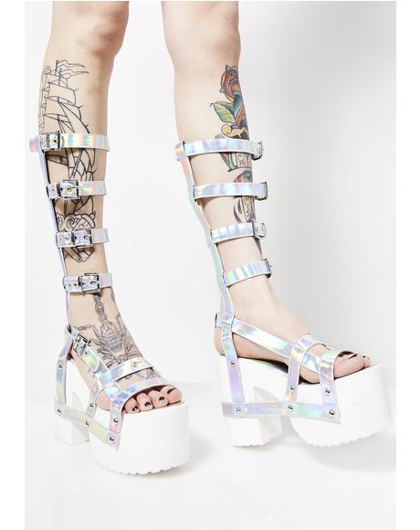 Optical Illusion Gladiator Platforms