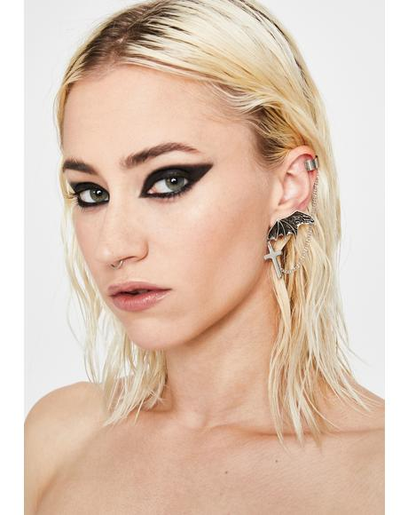 Grim Galore Wing Earring