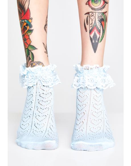 Addicted To Love Ruffle Socks
