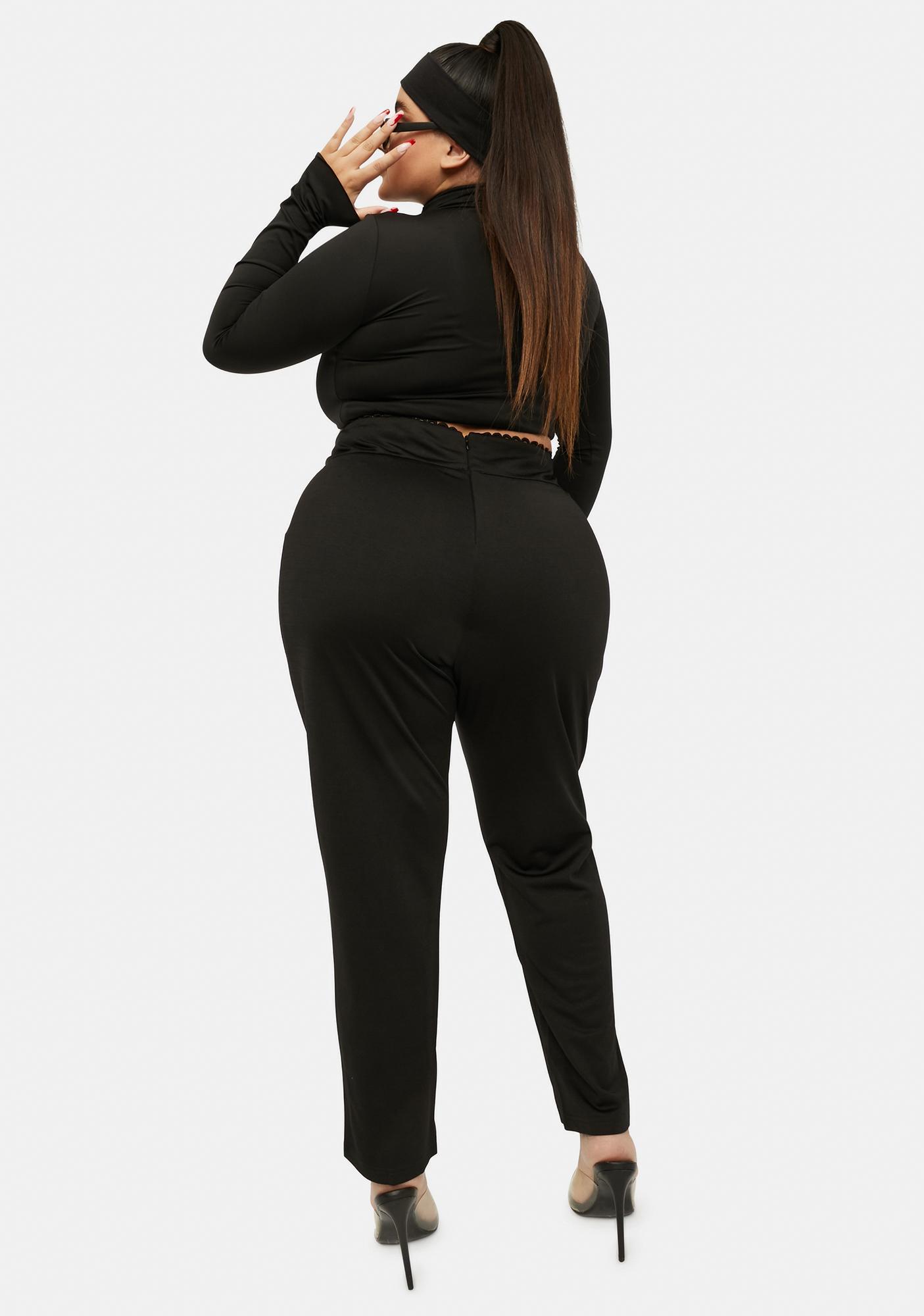Honey I Wanna Know Lace Up Pants