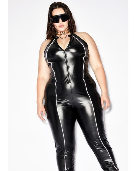 Vigilante Anti-Hero Zip Up Catsuit
