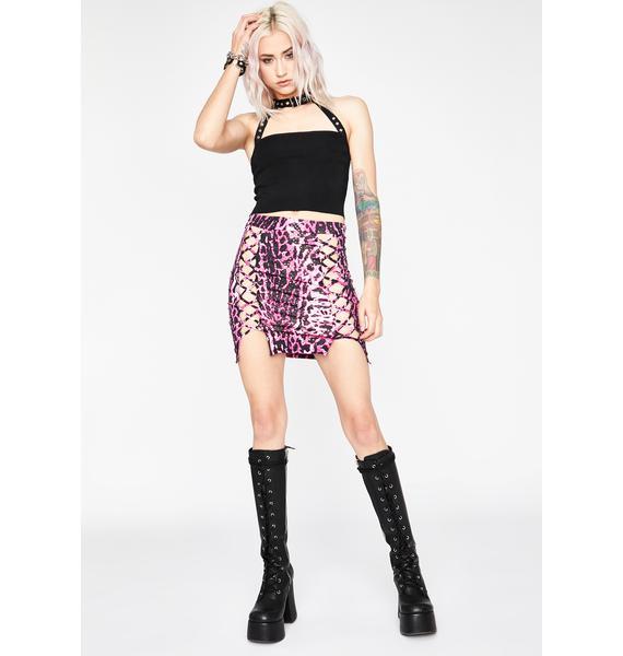Wild Electric Lust Mini Skirt