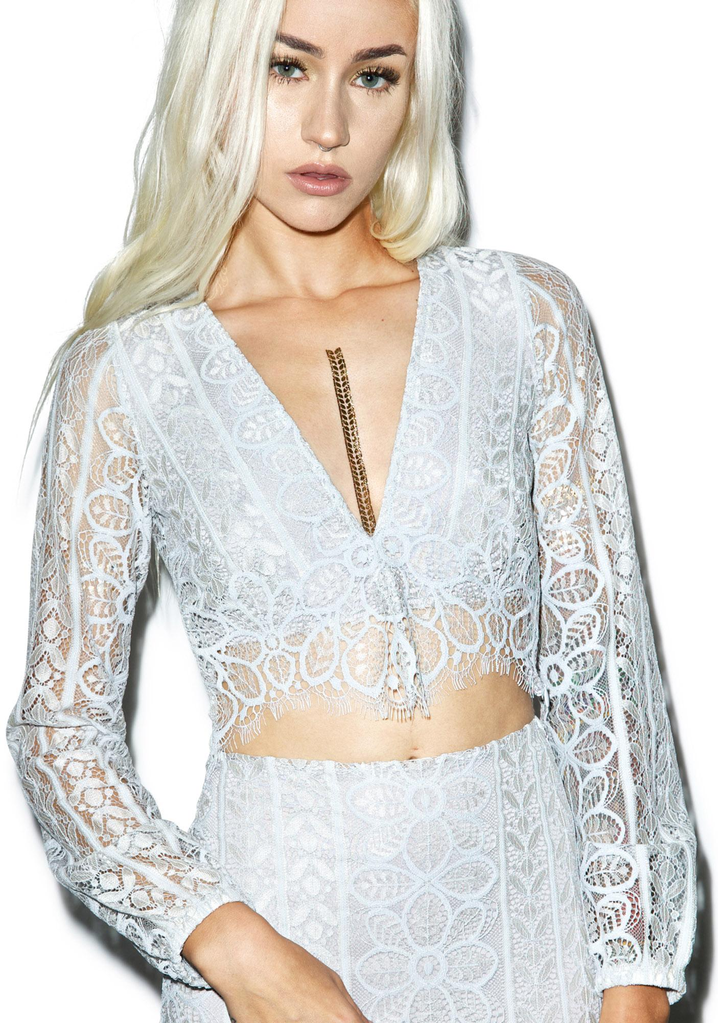 For Love & Lemons Lyla Crop Top