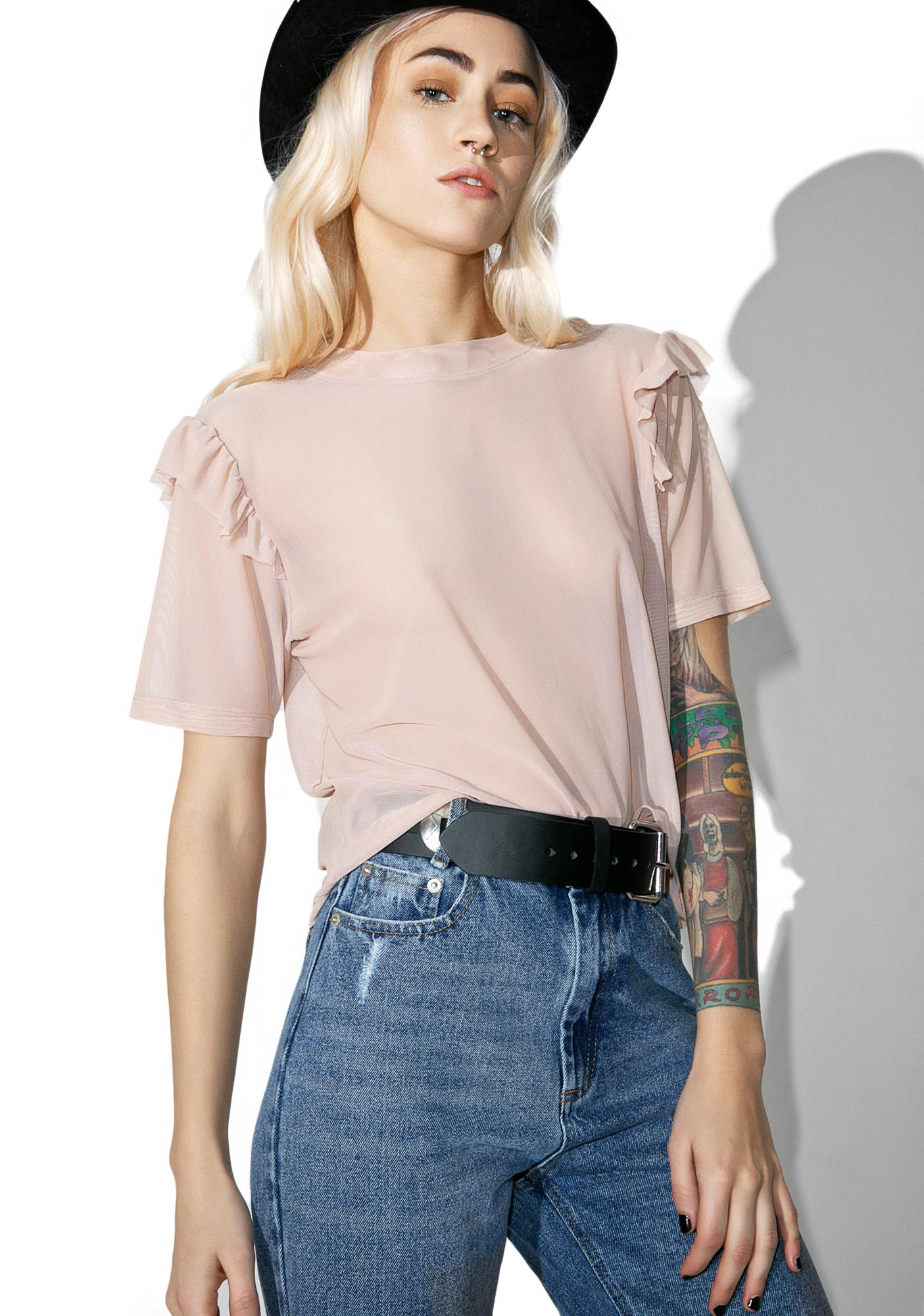 Light Prayer Crop Top