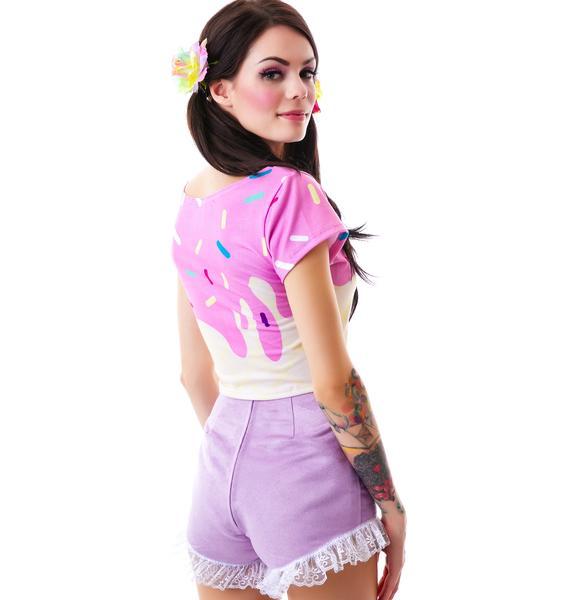 Violet Femme Heart Shorts