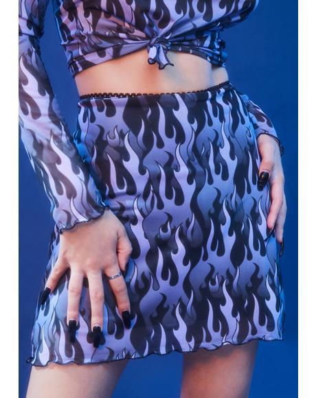 Hell On Heels Mesh Skirt