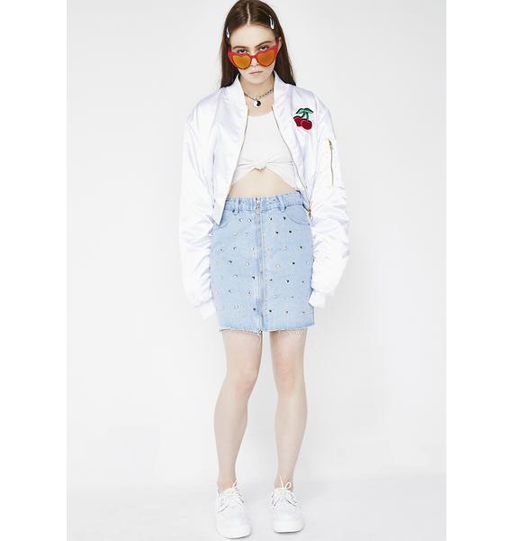 Glamorous Sassy AF Studded Skirt