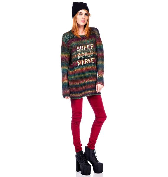 Halfman Romantics Rainbow Knit Crew Sweater