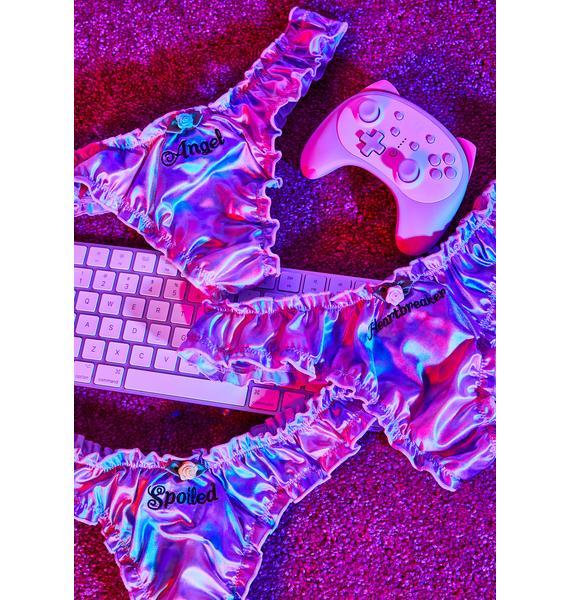 Sugar Thrillz Angelic Heartbreaker 3-Piece Panty Set