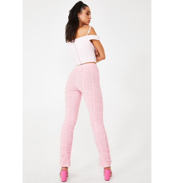 I AM GIA Pink Ophelia Ruched Pants