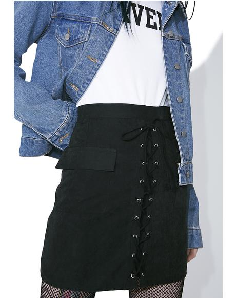 Onyx Sassy Sister Lace-Up Skirt