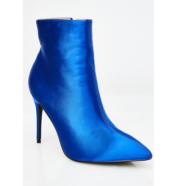 Public Desire Porter Satin Ankle Boot