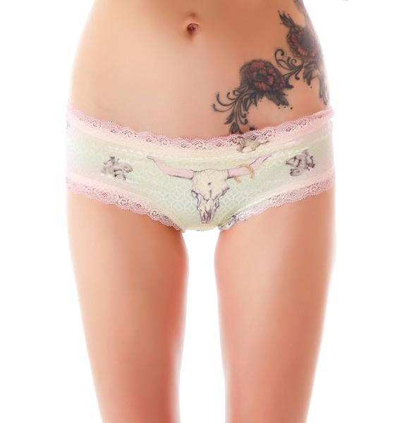 Private Arts Cow Skull Shimmer Undie