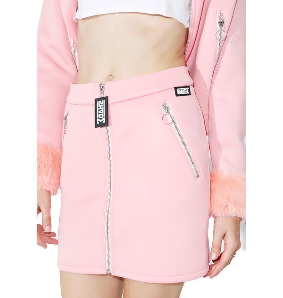 Shade London Zipper Mini Skirt