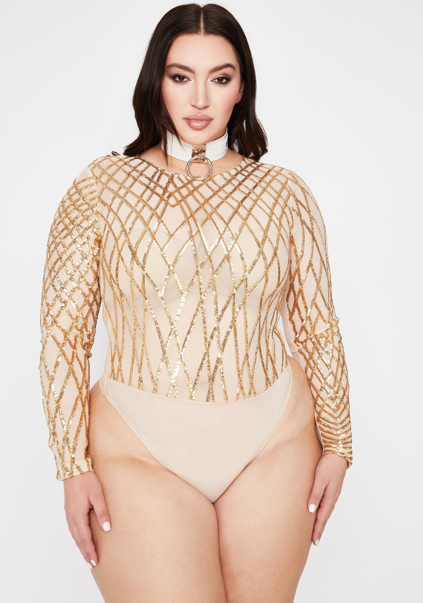 Gilded Her Complicated Crush Sequin Bodysuit