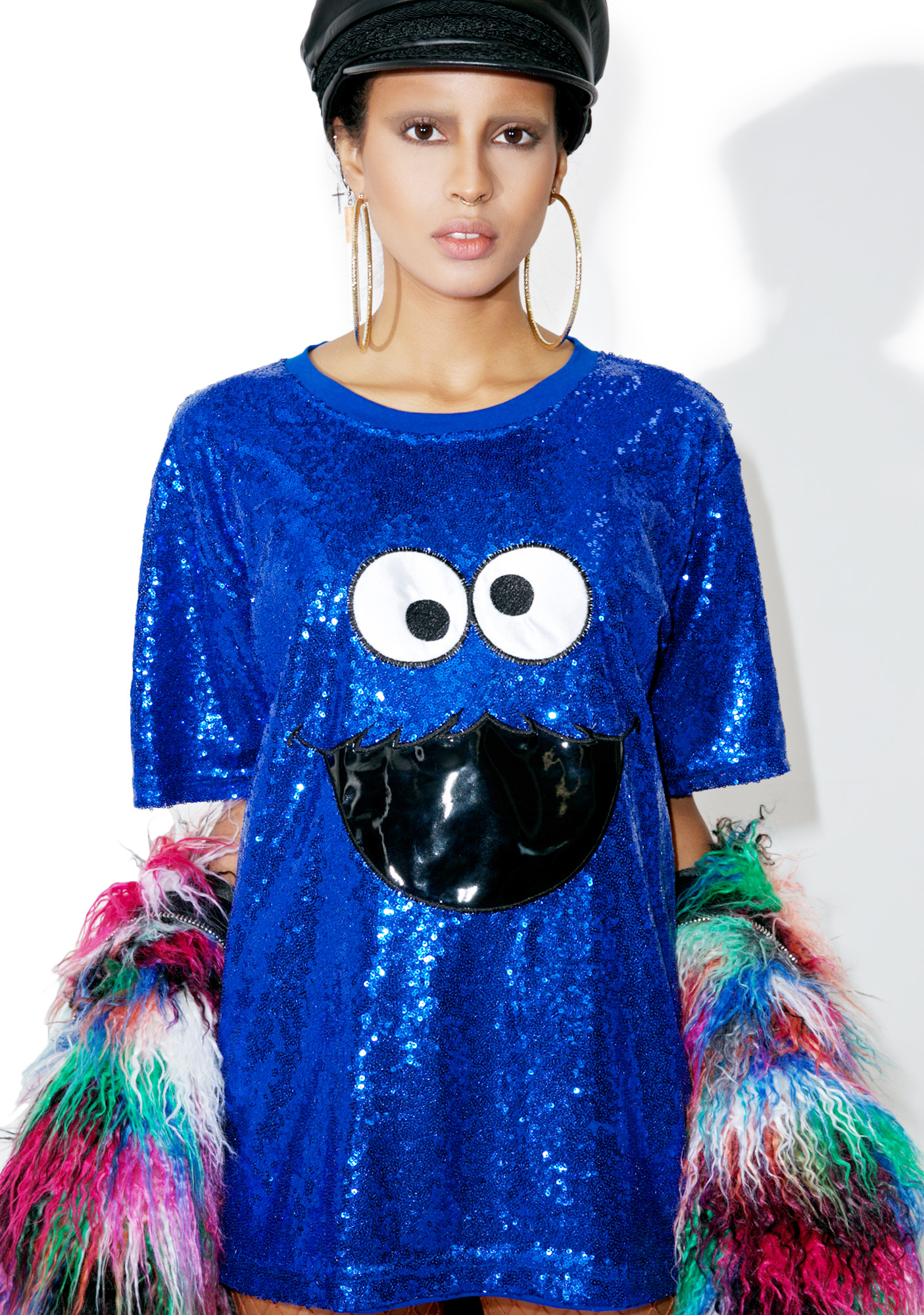 Cookie Monster Sequin Shirt