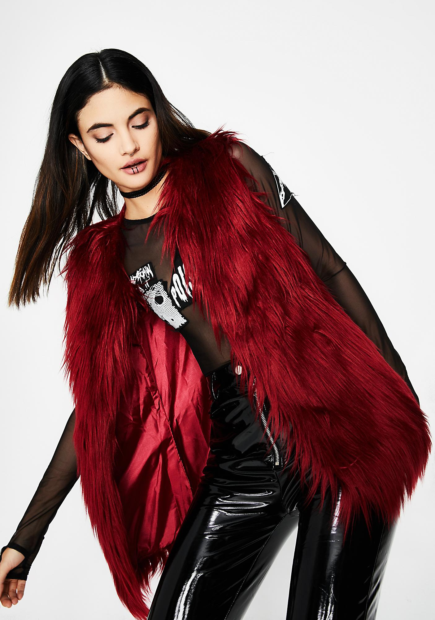 Cold Lover Furry Vest