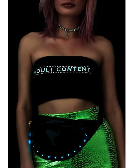 Noir Space Alien Light Up Fanny Pack