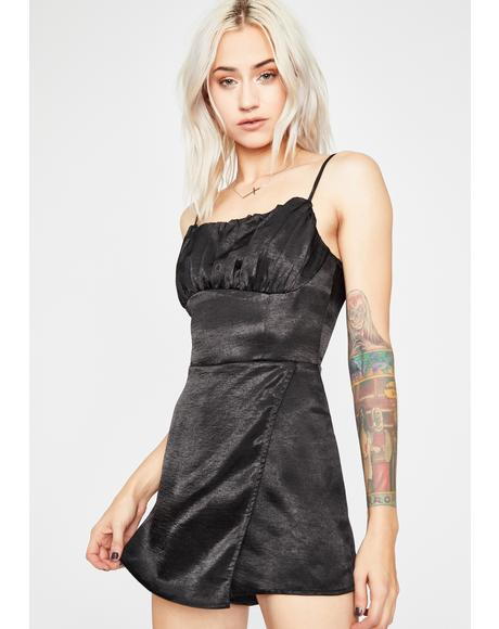 Mistress Of Bliss Satin Romper