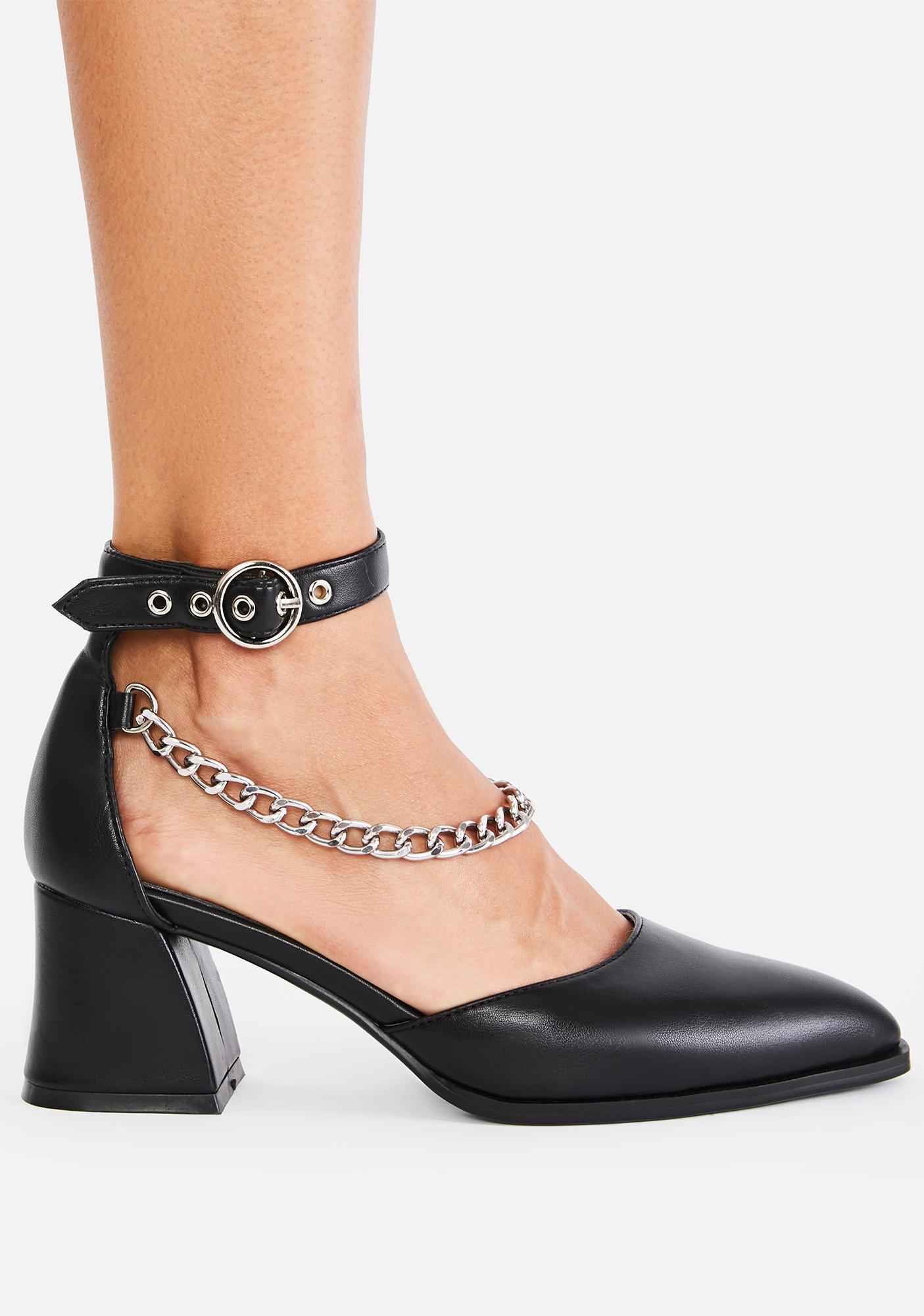 Lamoda Classy N' Sassy Chain Heels