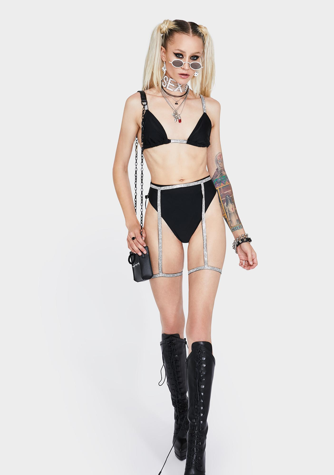 First Look Rhinestone Bikini Set