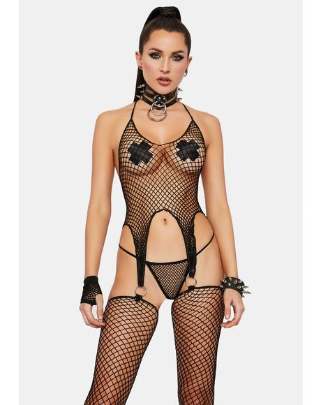 Come Find Me Fishnet Bodystocking