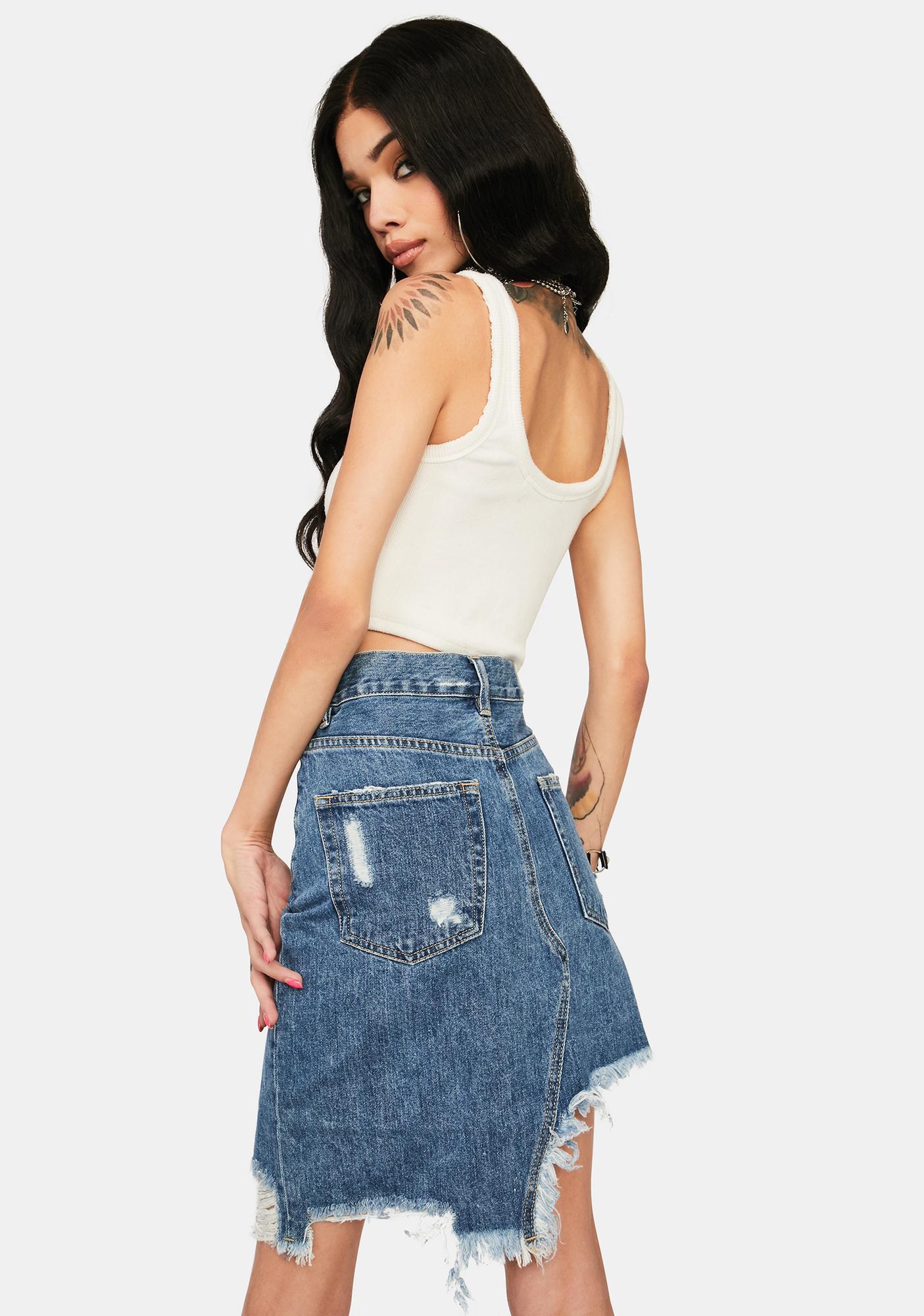 Zee Gee Why Step Mum Denim Skirt