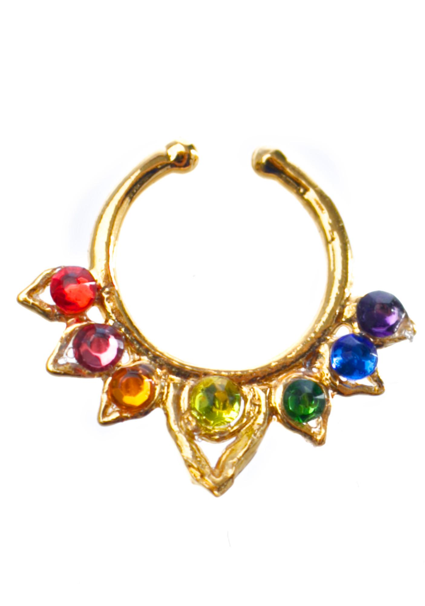 Vidakush Rainbow Dream Aurora Septum Clip