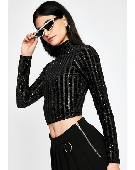 Glamour Heist Turtleneck Top