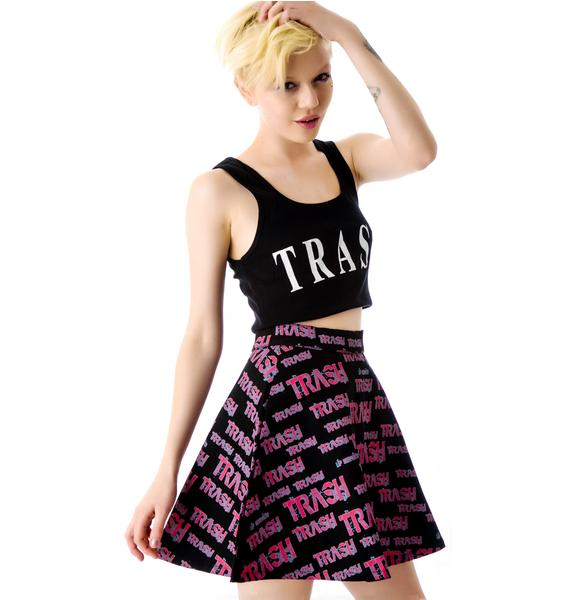 Lip Service Fashion Victim Trash Circle Skirt