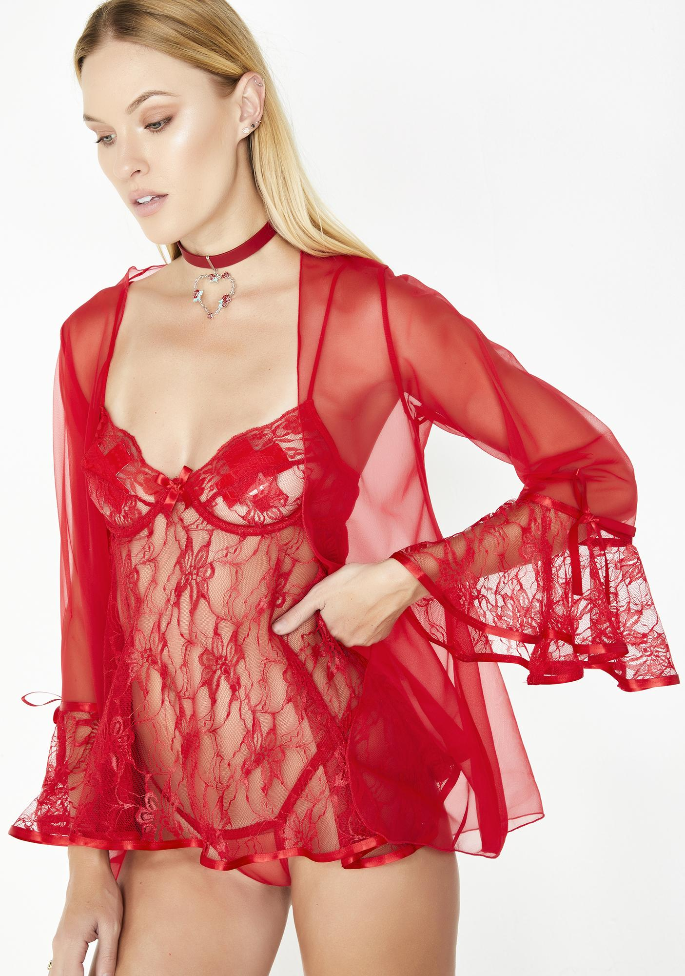 688191797cf Blazing Passion Three Piece Lace Set