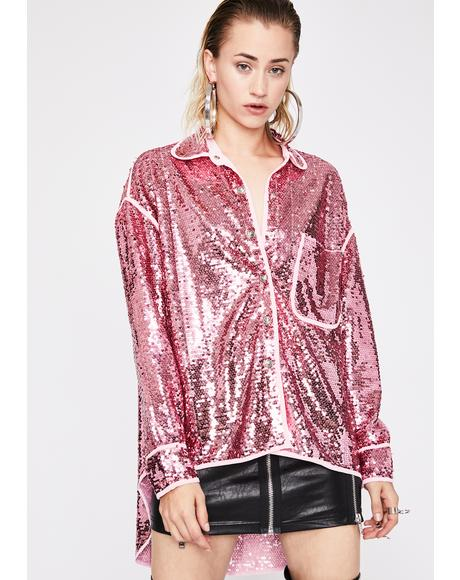 Disco Doll Sequin Blouse