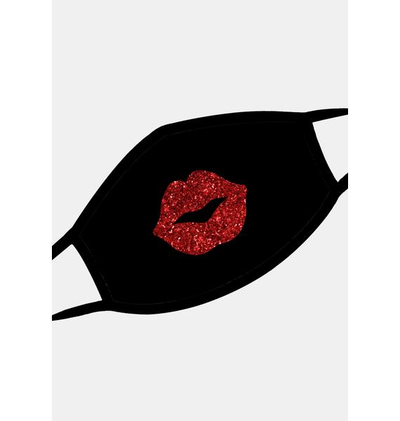 Neva Nude Pucker Up Red Glitter Face Mask