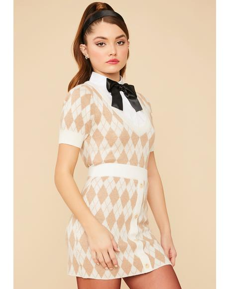 Charm School Argyle Skirt Set