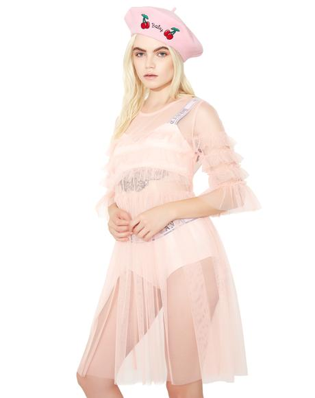 Blush Ophelia Sheer Babydoll Dress