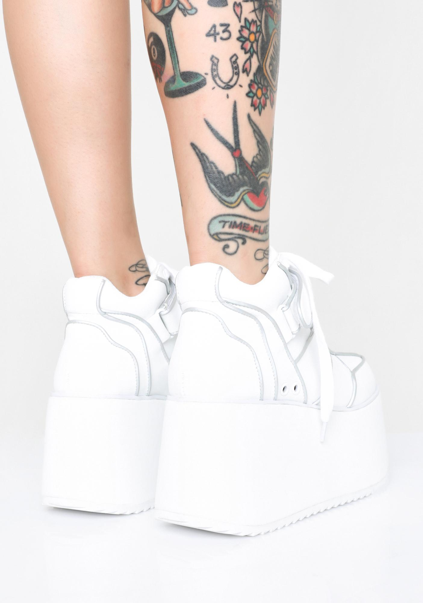 Sugar Thrillz Milky Dream Platform Sneakers