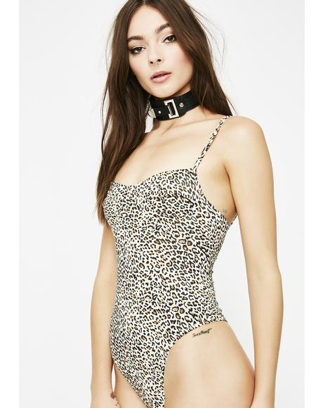 Roarin' Savage Leopard Bodysuit