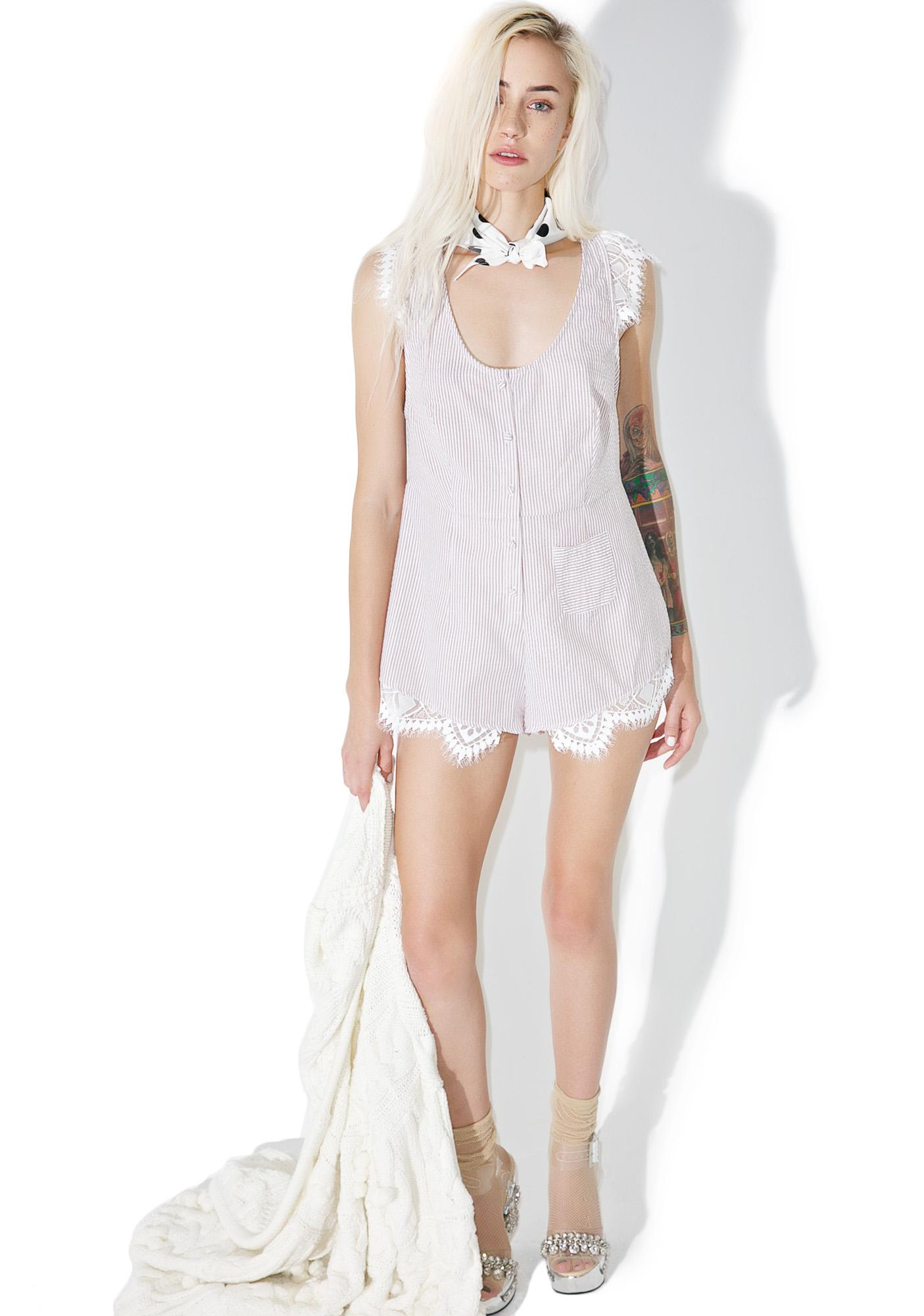 For Love & Lemons Emmy Sleeper Romper