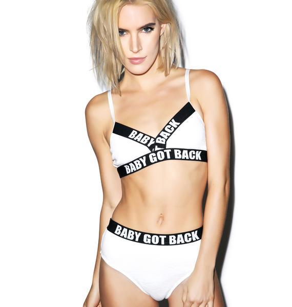 Baby Got Back Underwear Set - White