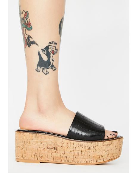 Black Fiji Platform Sandals