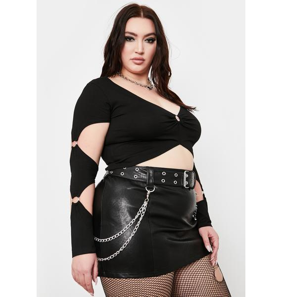 Current Mood Her Backstage Pass Crop Top