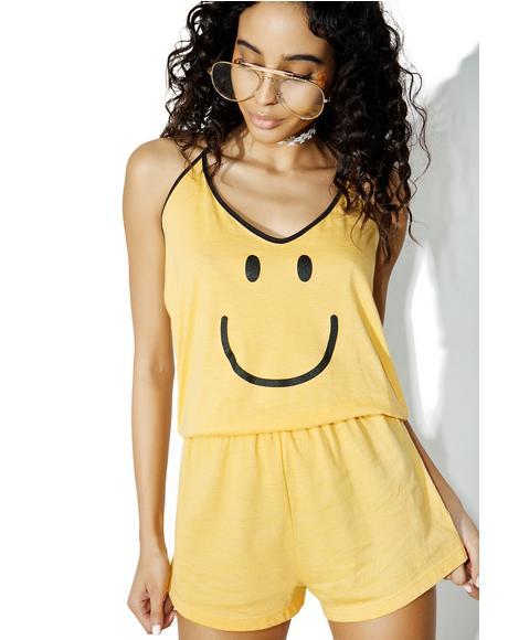 Smiley Face Halter Romper