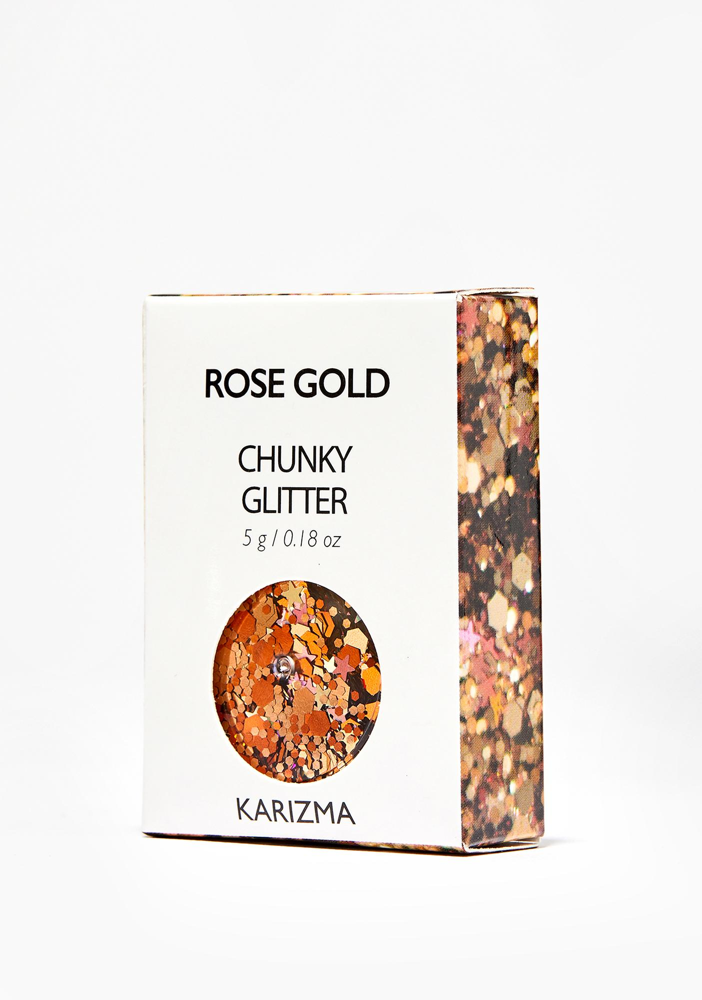 Karizma Beauty Rose Gold Chunky Glitter