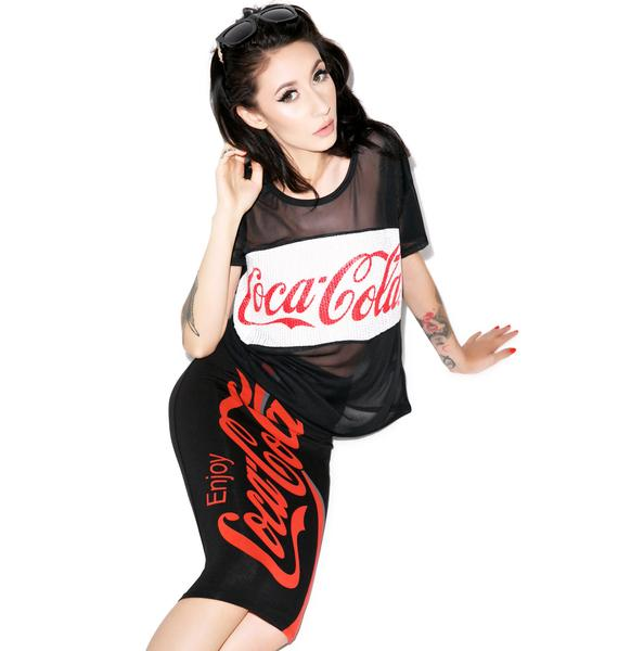 Enjoy Coca Cola Mesh Tee