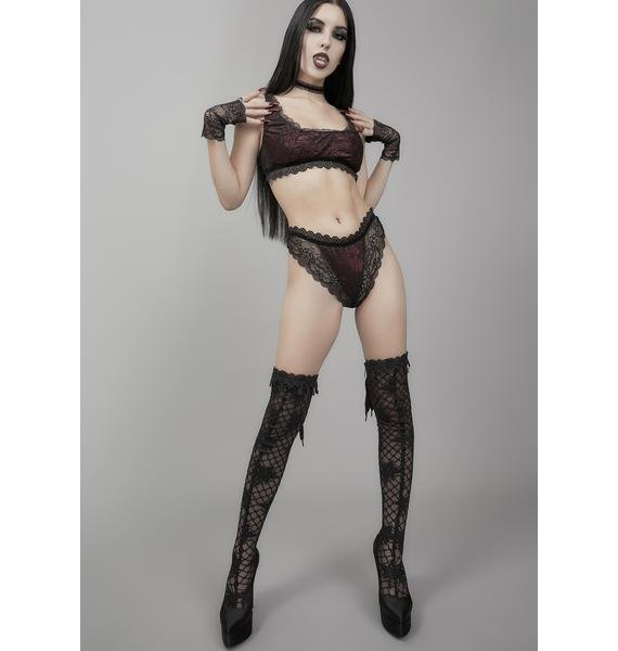 Widow Carpe Noctem Lace Bralette