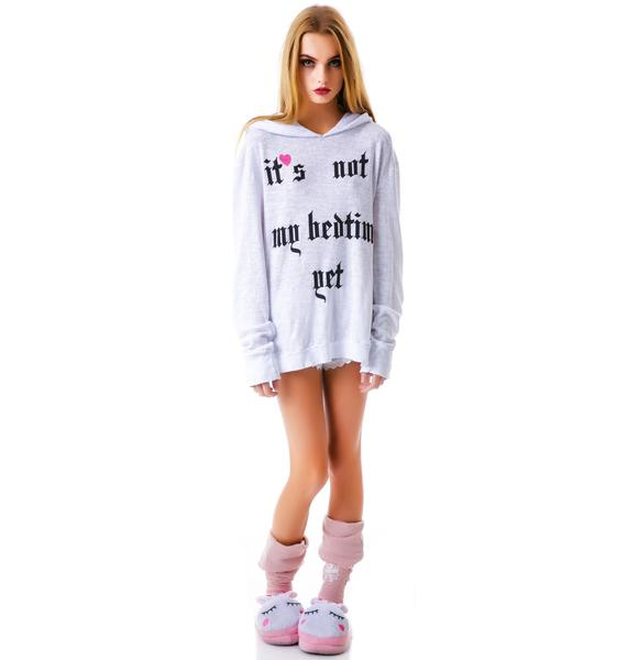 Wildfox Couture Not My Bedtime Yet Gypsy Hoodie