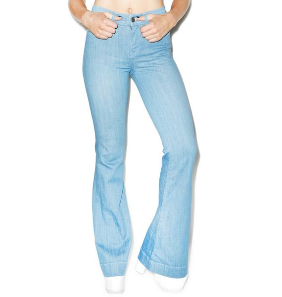 Wildfox Couture The Farrah High Rise Flare Jeans