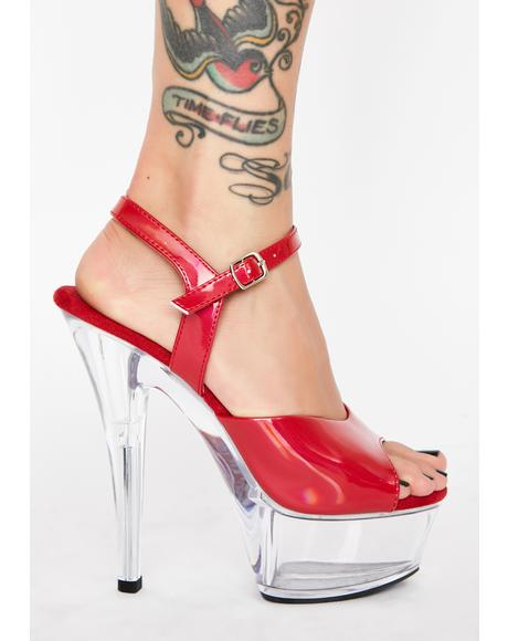 Kiss Me Softly Platform Heels