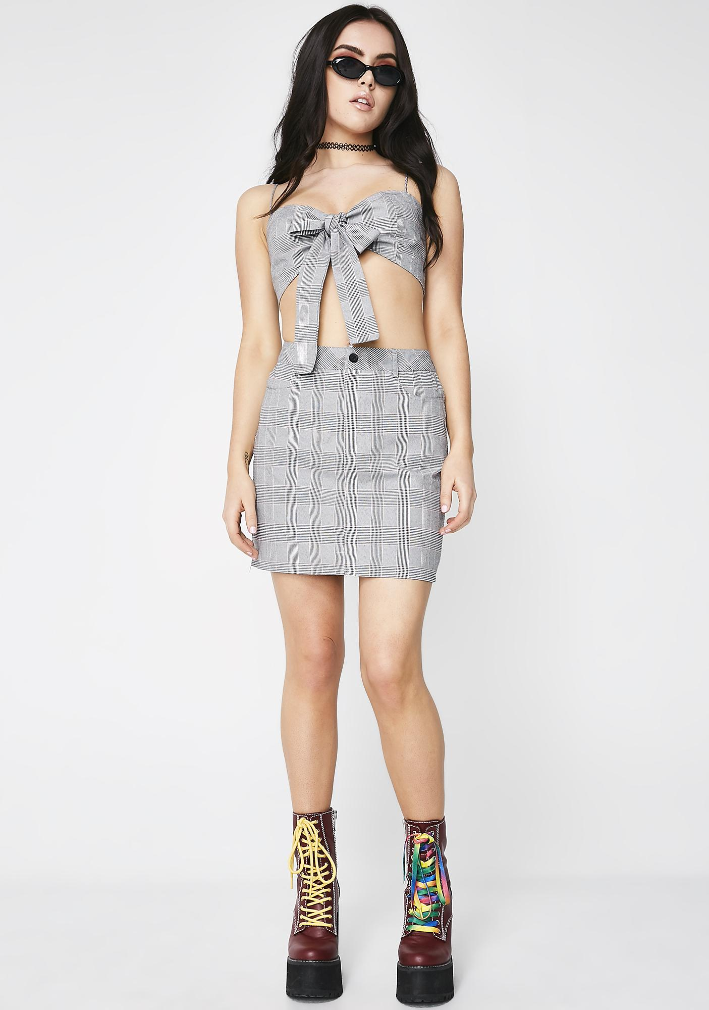 Detention Seeker Plaid Set