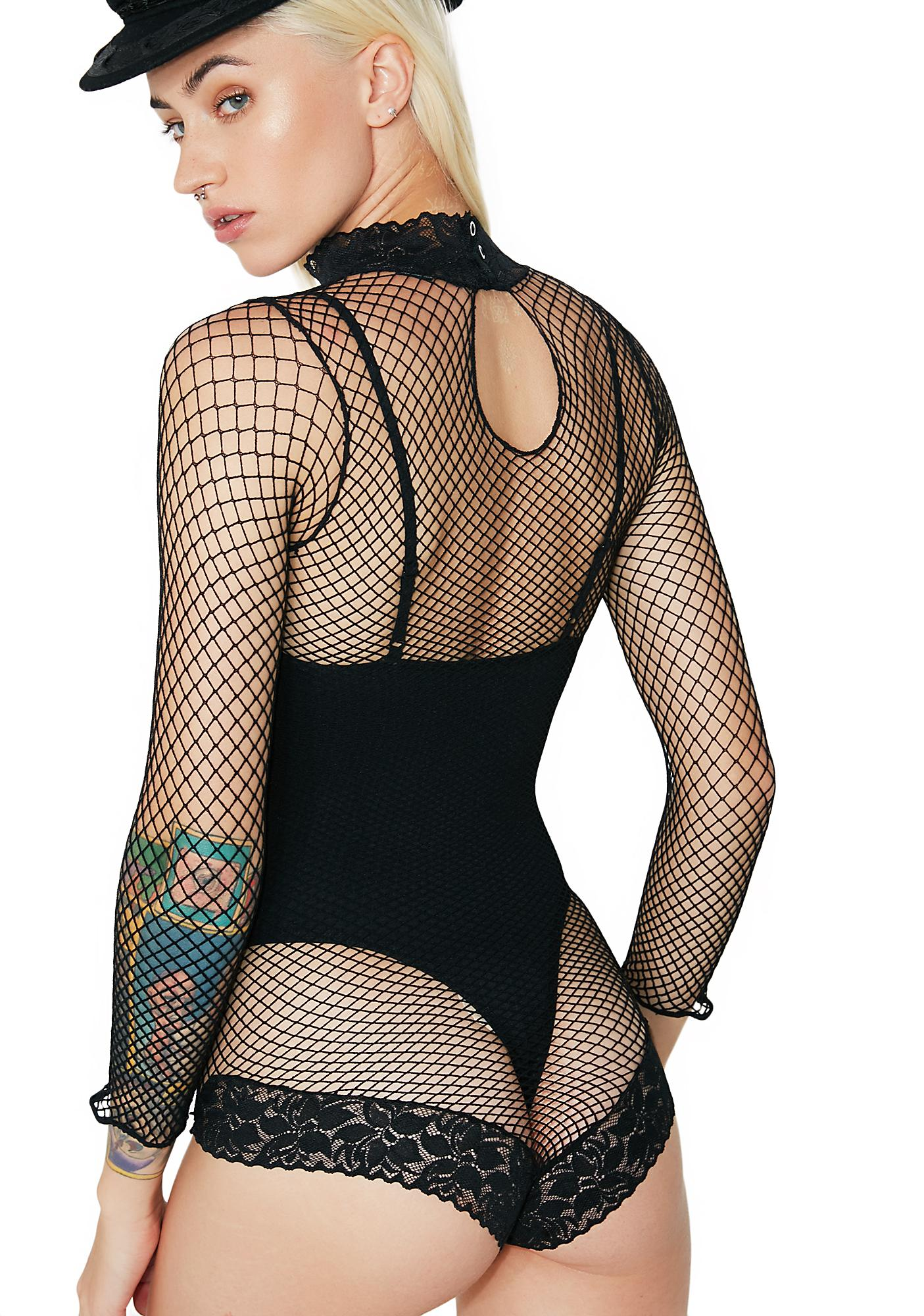 High Demand Fishnet Bodysuit
